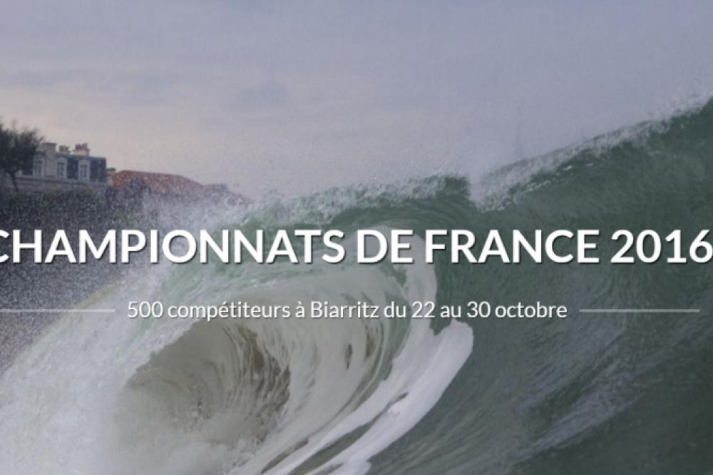 Championnats de France de Surf à Biarritz du 22 au 30 Octobre