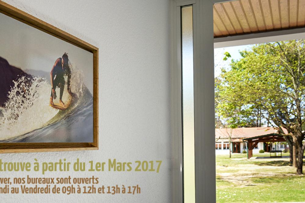 On se retrouve à partir du 1er Mars 2017