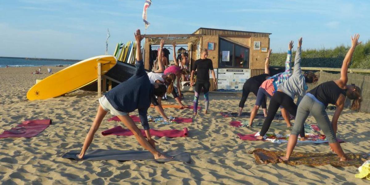 Surf & Yoga au Pays Basque